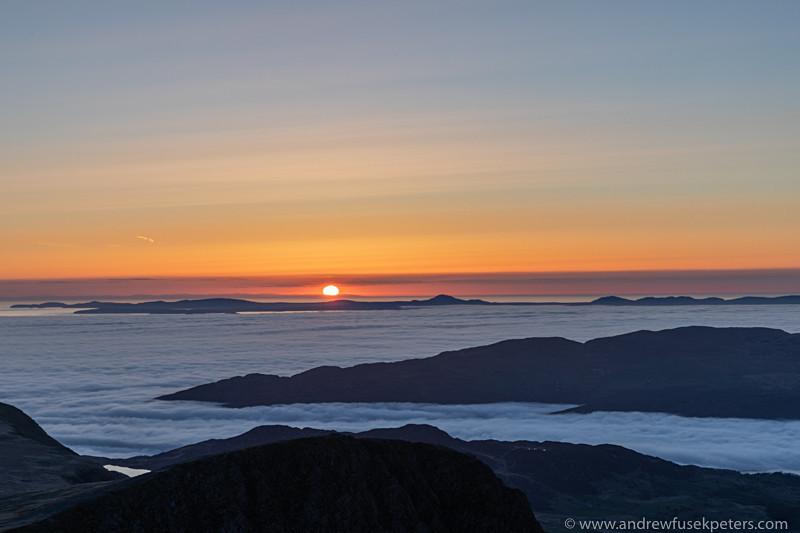 Sunset over Lleyn Peninsula from Cadair Idris - Showcase