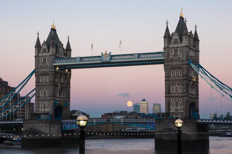 Tower Bridge Full Moon - City