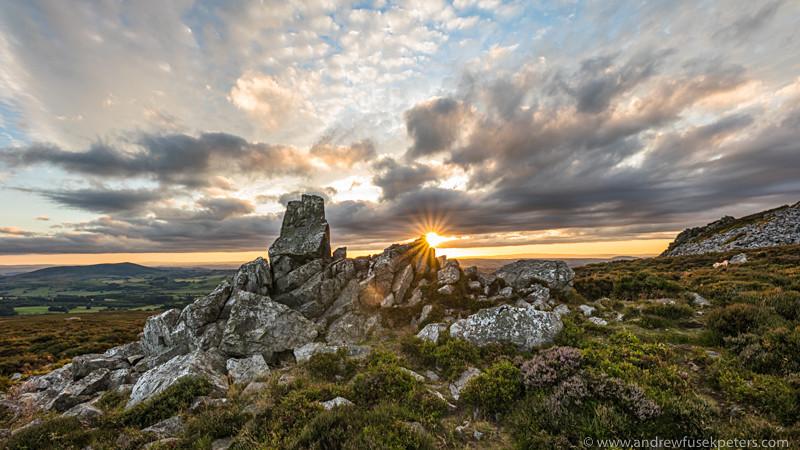 Diamond Rock at sunset Stiperstones - Sigma