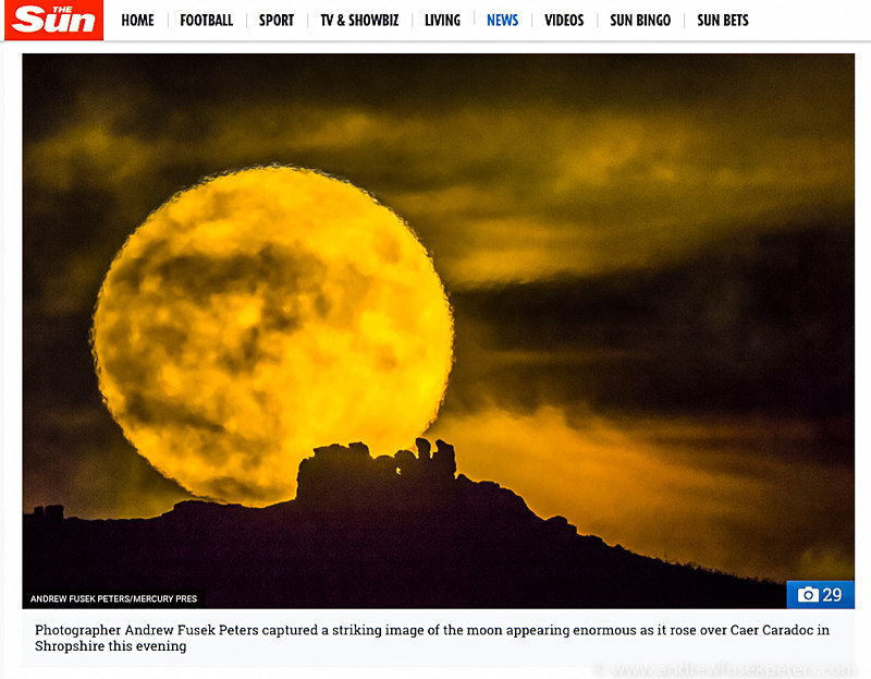 Supermoon in The Sun Online - Media & Awards