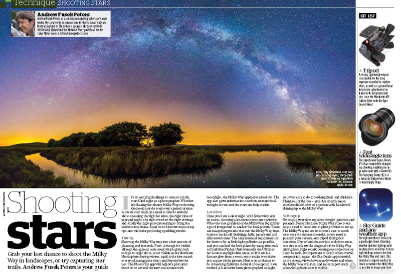Shoot the Milky Way front cover feature Amateur Photographer-2 - Stars, Star Trails and Milky Way