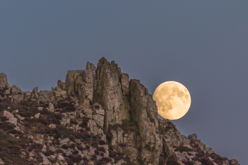 full moon over Devil's Chair, Stiperstones 2 - Moon