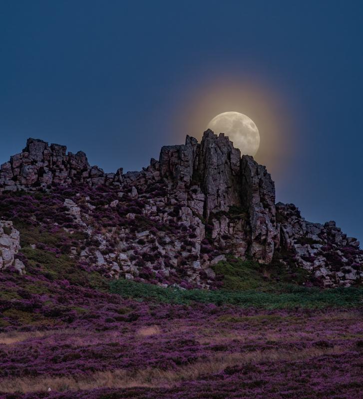 full moon over devils chair, Stiperstones 3 - Moon