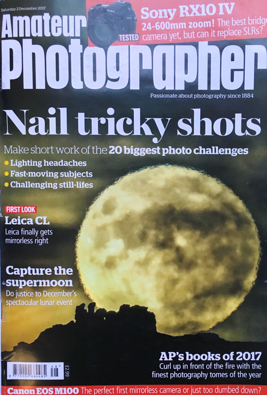 Supermoon over Caer Caradoc, Amateur Photographer cover shot - Media & Awards