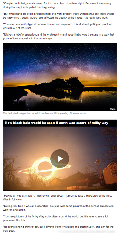 Milky Way Express Online May 2017-3 - Stars, Star Trails and Milky Way