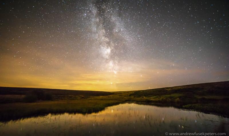 Milky Way Wildmoor Pool - Stars, Star Trails and Milky Way
