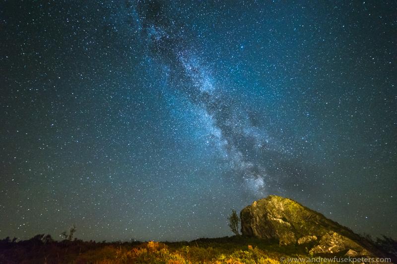 milky way nipstone rock, Stiperstones - Stars, Star Trails and Milky Way