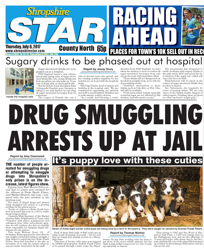 Shropshire Star Cover Border Collie Pups - Media & Awards