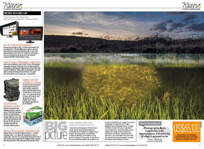 Amateur Photographer Big Picture frog spawn at dusk on the Mynd - Media & Awards