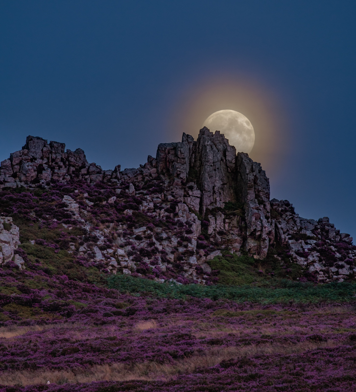 Full moon rising over the Devil's Chair - Wilderland, Wildlife & Wonder from the Shropshire Borders