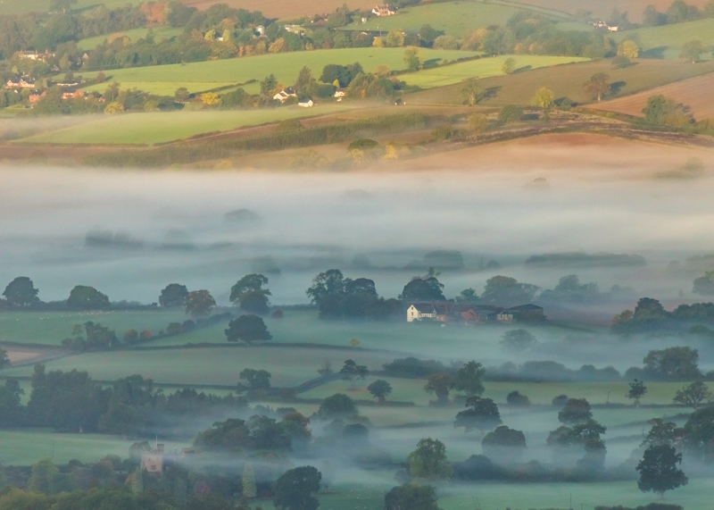 Just after dawn from Brown Clee - Showcase