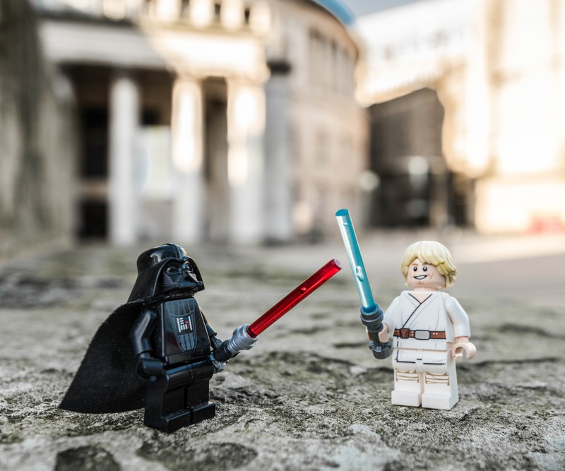 Manchester Darth Vader v Luke Skywalker - Manchester Mini Lego Adventures