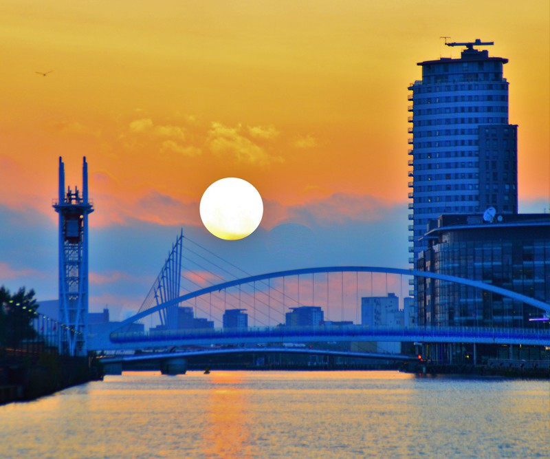 Sunset on the Quays - Salford Quays inc Lowry & Media City