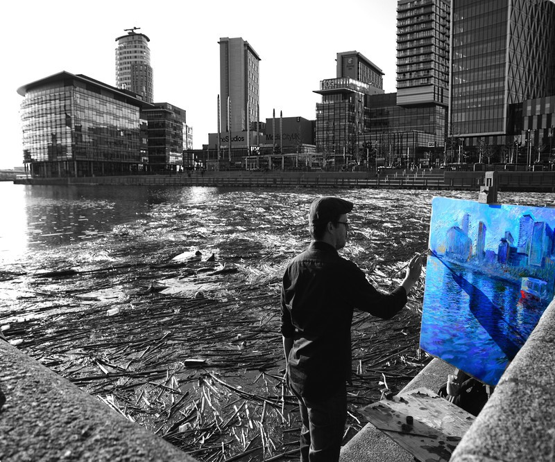 The Media Painter - Salford Quays inc Lowry & Media City