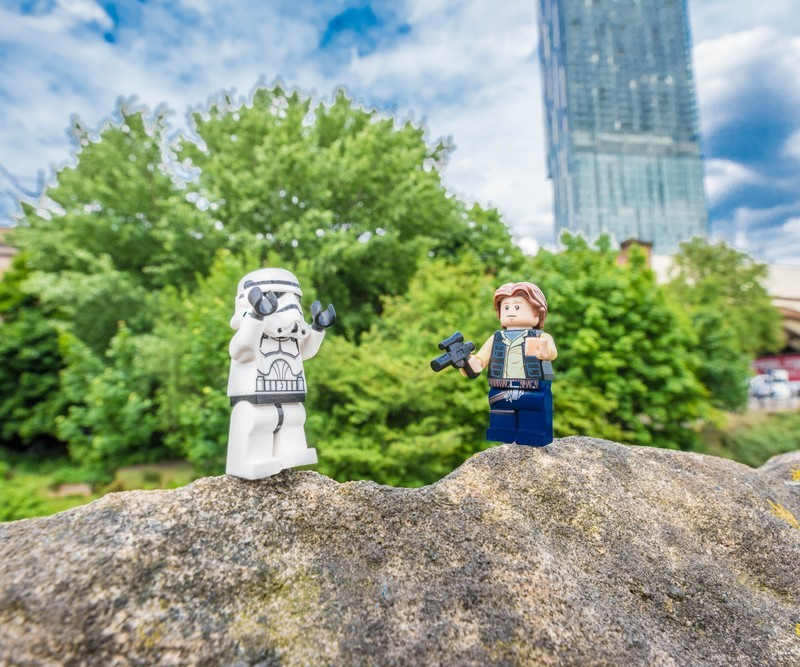MANCHESTER STORM TROOPER & HAN SOLO - MANCHESTER MINI FIGURE ADVENTURES