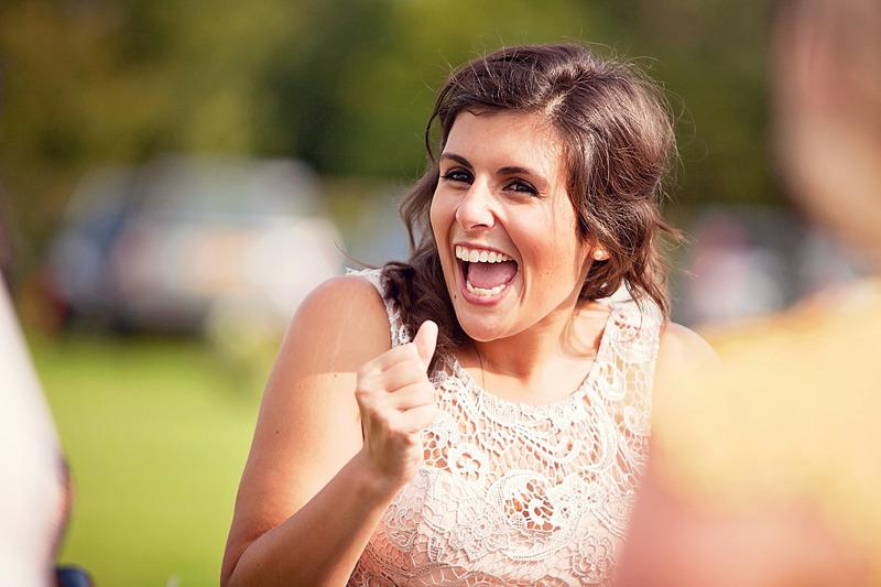 Happy Wedding Guest   Wedding Photographer   Sussex