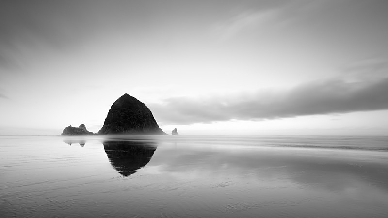 Haystack - Black and White