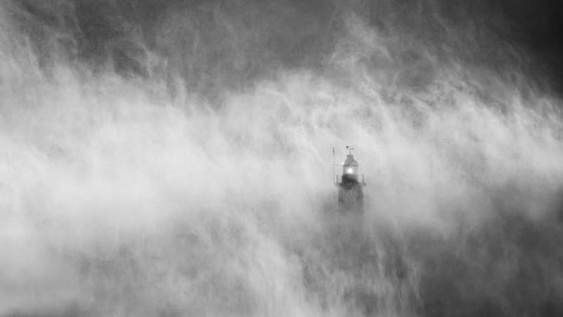Storm Light - Black and White