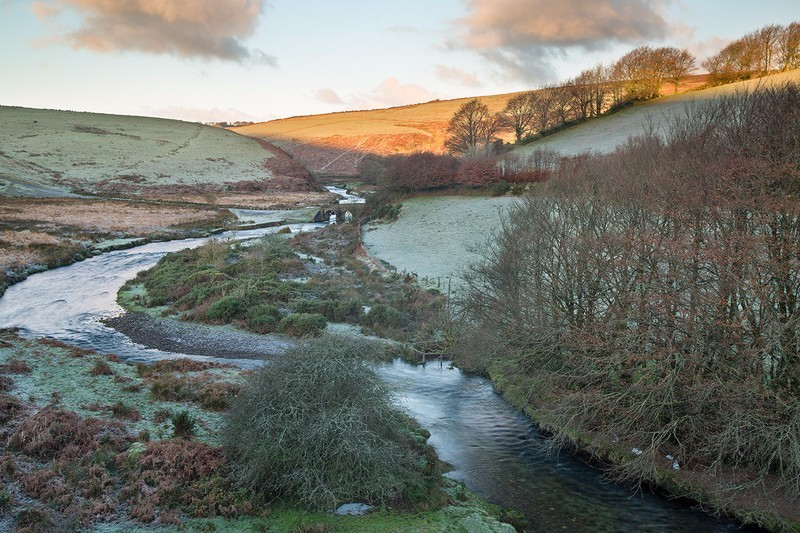 Landacre Bridge Morning Light - Exmoor