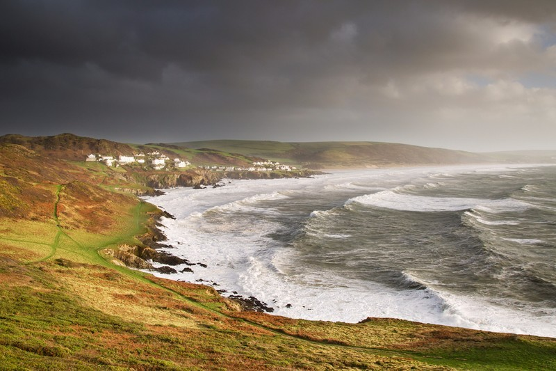 Storm Ophelia at Woolacombe - Devon Seascapes