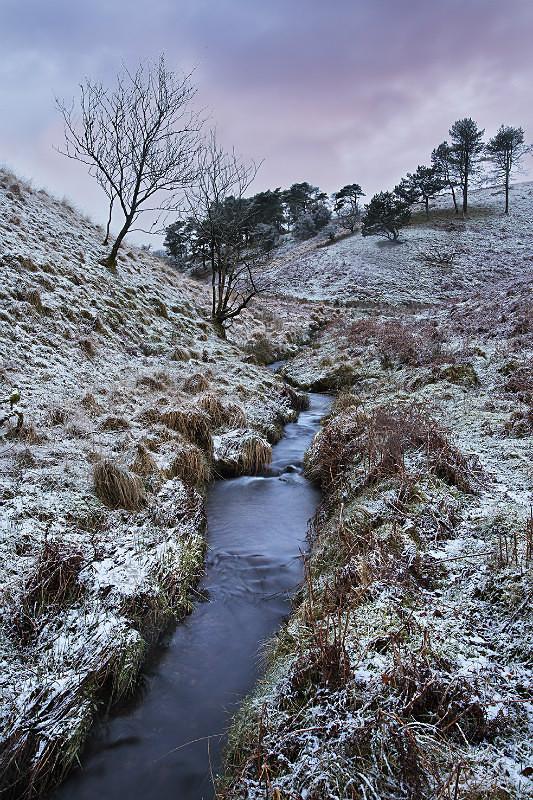 Light snow on the moor - Exmoor