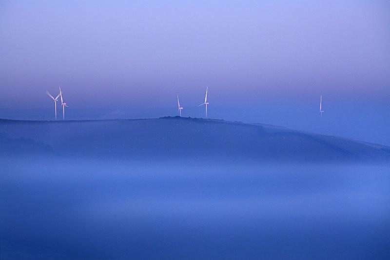 Twilight mists - Devon Landscapes