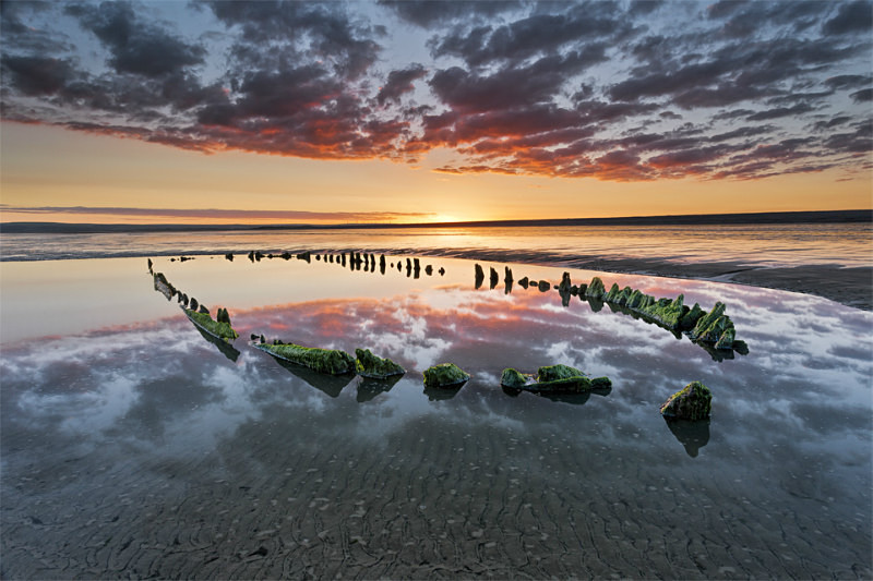 Westward Ho! Wreck Sunrise - Devon Seascapes