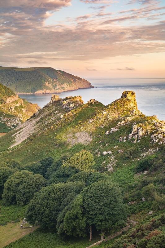 Valley of the Rocks in Summer (Portrait) - Exmoor