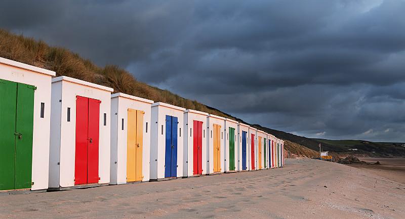 Woolacombe Beach Huts - Devon Landscapes