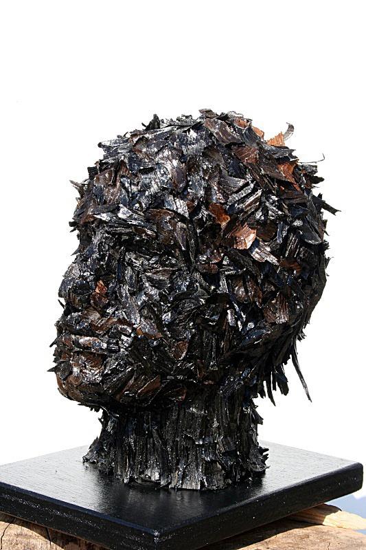 Bog oak head no. 1 - Heads