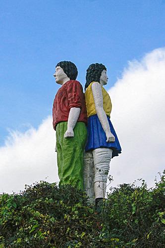 BOY AND GIRL detail - Public Art