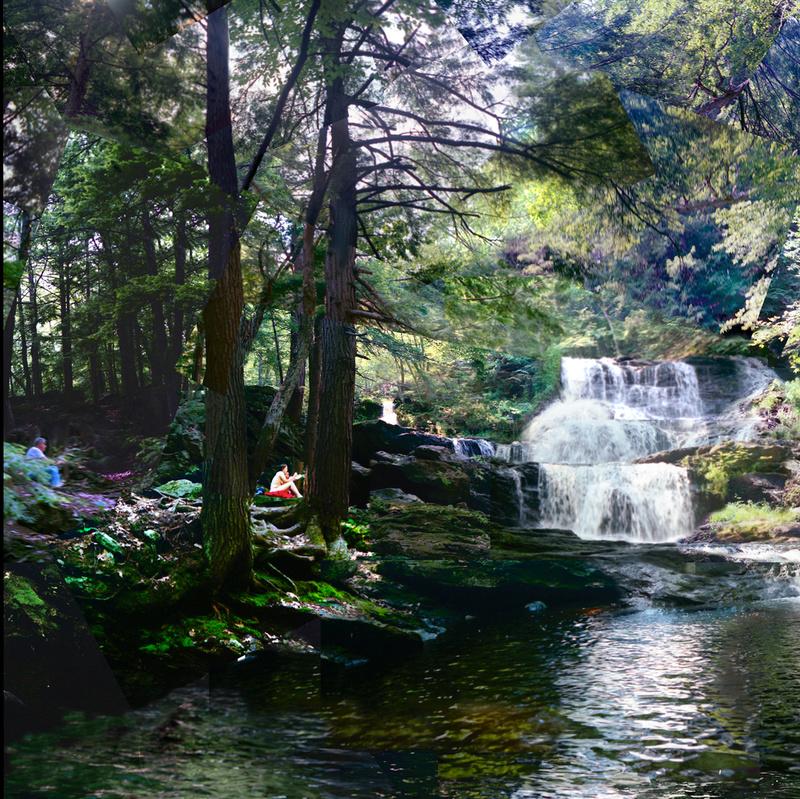 Dejueuner, Garwin Falls (detail) - Waterfalls