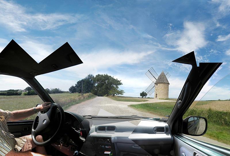 Moulin a Vent -Auvillar - Driving/Car Views