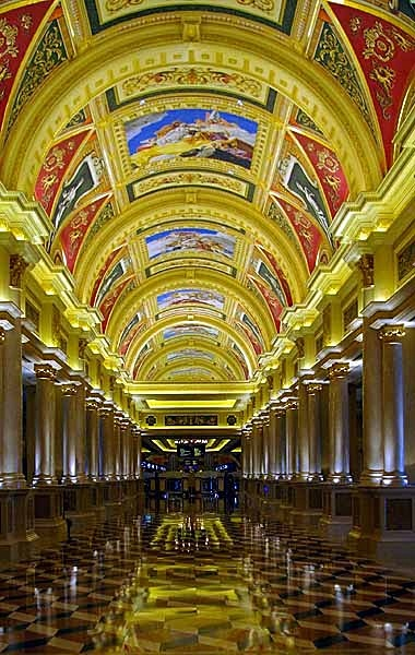 Venetian Casino's Grand Hall, Macau. - Hongkong and Macau