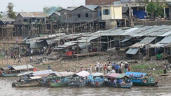 Typical Mekong river town - Cambodia and Vietnam