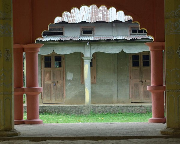 Temple doors, Majuli - India (Assam, Brahmaputra cruise, Agra and Jaipur)