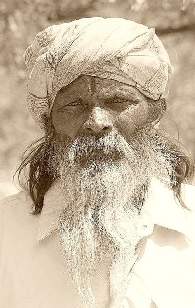 Old Man 2 (Sepia) - India (Assam, Brahmaputra cruise, Agra and Jaipur)