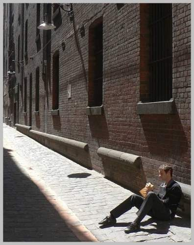 Lunch in a laneway - Melbourne
