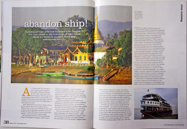 Burma cruise - Some magazine articles