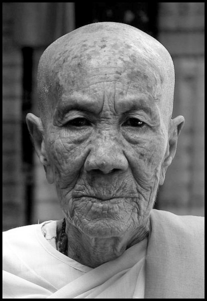 Buddhist nun, Rangoon - Burma