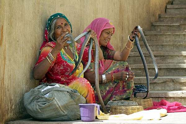 Snake Ladies - India (Assam, Brahmaputra cruise, Agra and Jaipur)