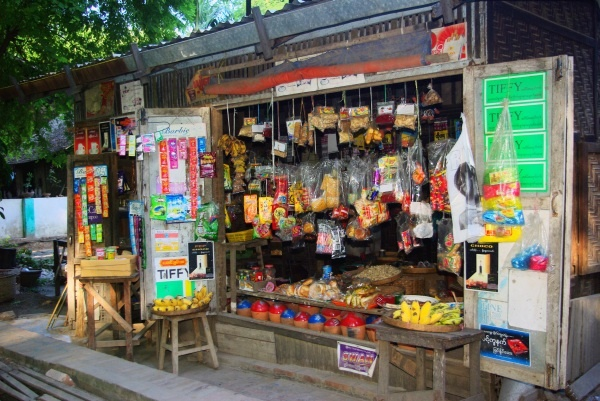 Village shop, Irrawaddy River - Burma