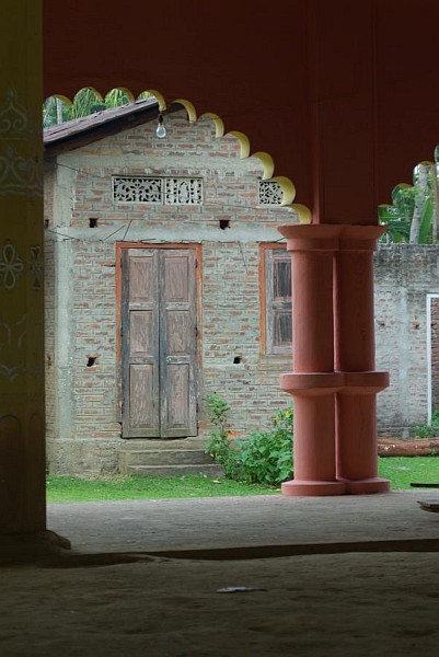 Temple doorway, Majuli - India (Assam, Brahmaputra cruise, Agra and Jaipur)