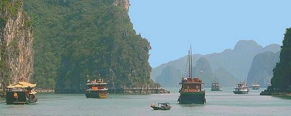 Halong Bay panorama - Cambodia and Vietnam