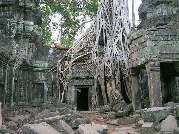 Angkor's best-known door - Cambodia and Vietnam