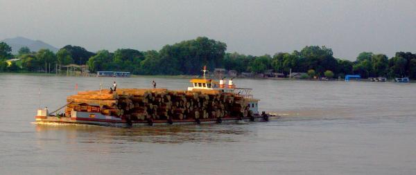 Teak boat - Burma