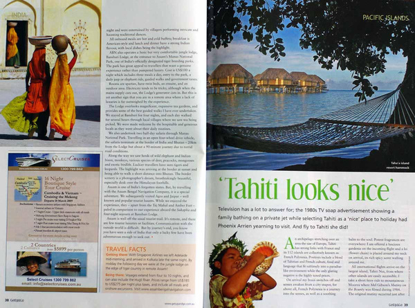 The Brahmaputra River and Jaipur - Some magazine articles