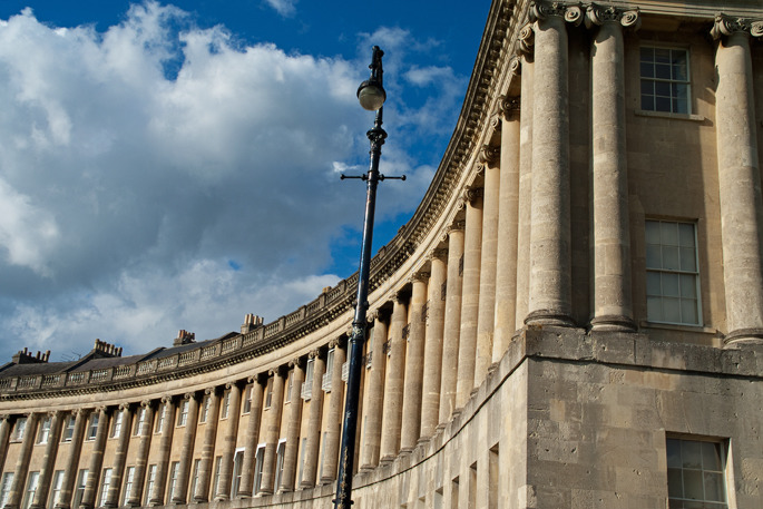 Bath - Royal Crescent - Southern England