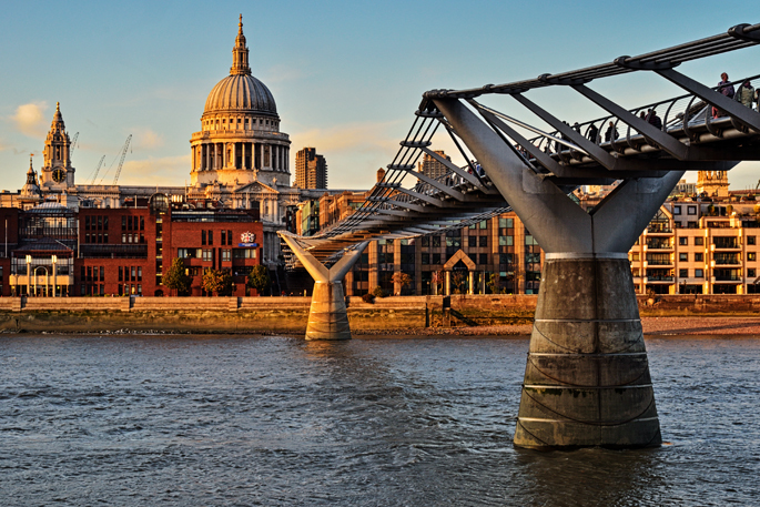 Millenium Bridge - London - Southern England