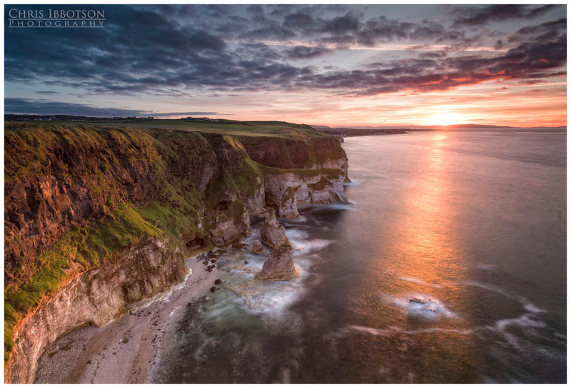 Sunset at Whiterocks, Portrush